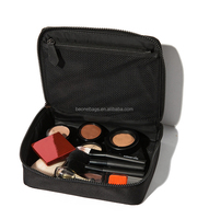 Professional Waterproof Black Polyester Large Travel Makeup Case