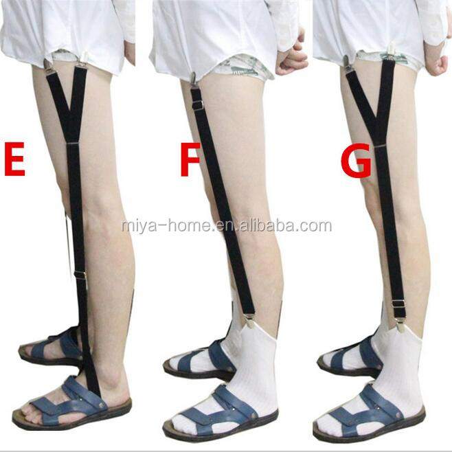 High quality Mens Shirt Stays Garters Elastic Nylon Adjustable Shirt Holders Crease-Resistance Belt Stirrup Style Suspenders