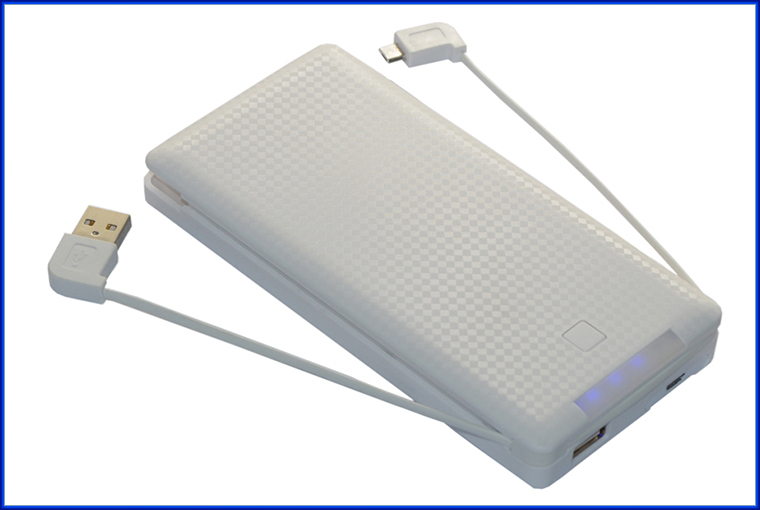 Hot new products 10000mah built-in cable power bank for Samsung and for iPhone