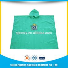 high quality fashion long polyester pvc adult rain poncho with coating