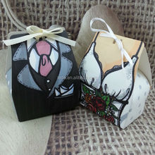 Sexy lingerie wedding favor sweet boxes