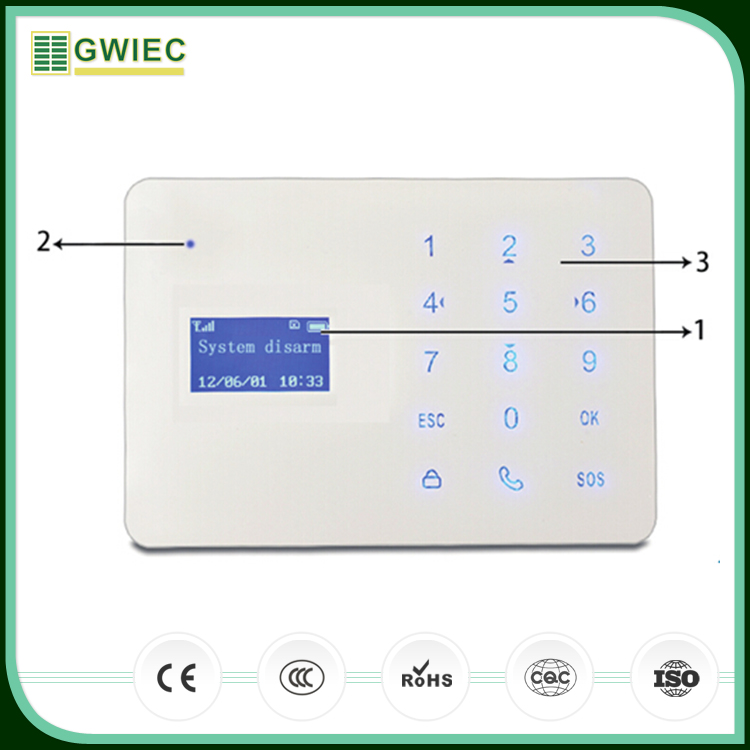 GWIEC New China Products Intelligent Mobile Call GSM Wireless Home Security Alarm System