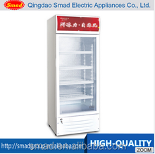Upright Commercial Glass Showcase,Beverages Showcase Refrigerator,268L Showcase Glass Door