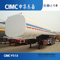CIMC High Capacity 50000 Liters Tri-axle Gasoline Tank Semi Trailer For Sale