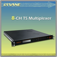 DMB-9110 Audio multiplexer / Professional 8*ASI out mpeg ts processor series audio multiplexer