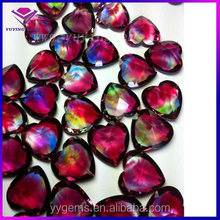 small glass hearts shaped many color China glass beads gemstone