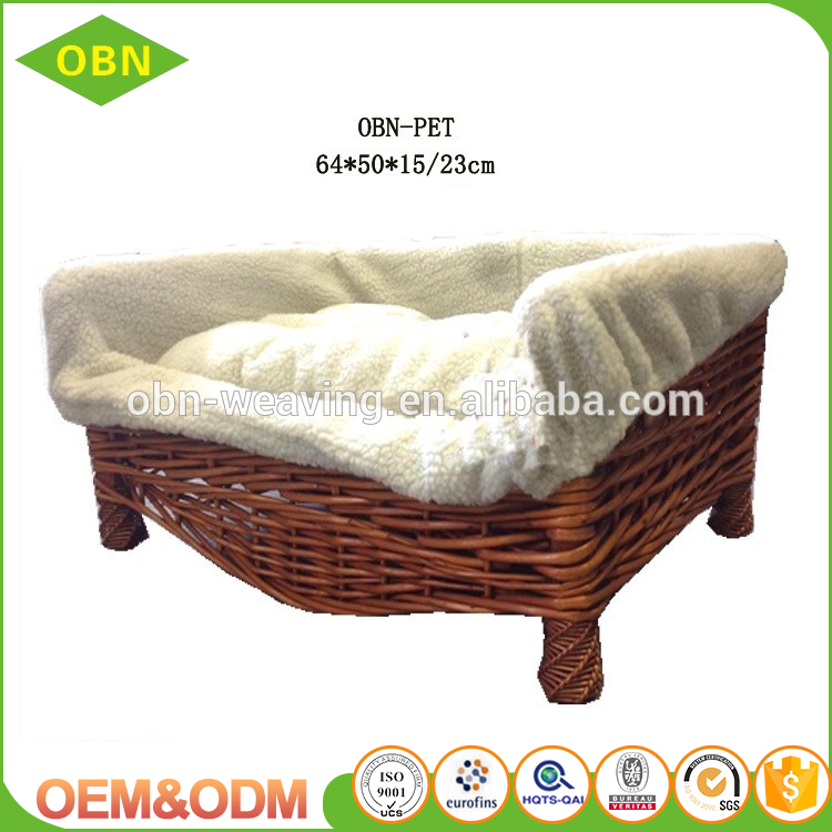 Cheap handmade wicker pet bed wicker dog bed