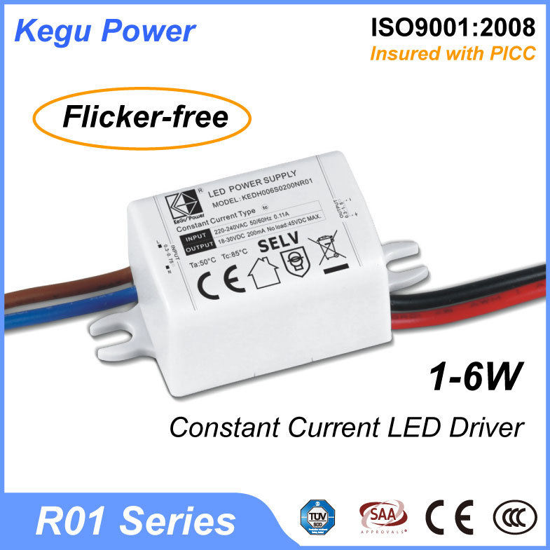 161 KEGU R01 1-6W Constant Current LED Driver mini led transformer with TUV CE SAA