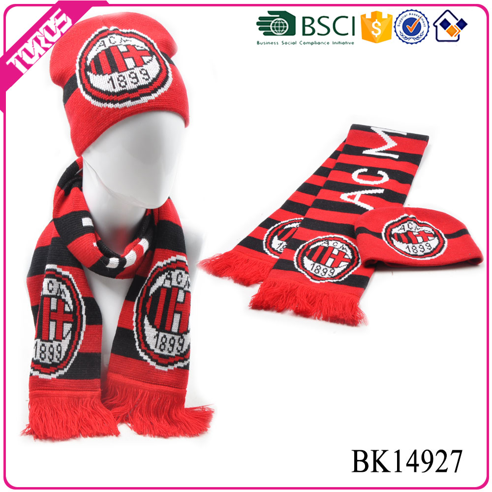 Toros acrylic knitting patterns soccer football fan scarves and hats