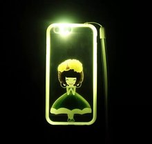 Cell Phone Case Call Flash LED Light Up Phone Case for iPhone 6 Alibaba China Light Up Fancy Cases