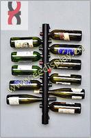 pipe wall mounted wine display rack-twelve bottles/metal liquor wine display/wine holder rack for supermarket promotion