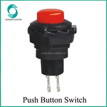 PBS-53 R13-502 12MM OFF-(ON) 2A 125V Red Push Button Switch