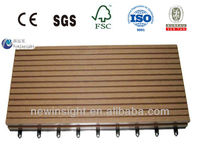 Supplier for Olympic Expo Wolrd Plastic wood Decking tiles WPC DIY Decking tiles 300X300mm wood plastic composite Decking tiles