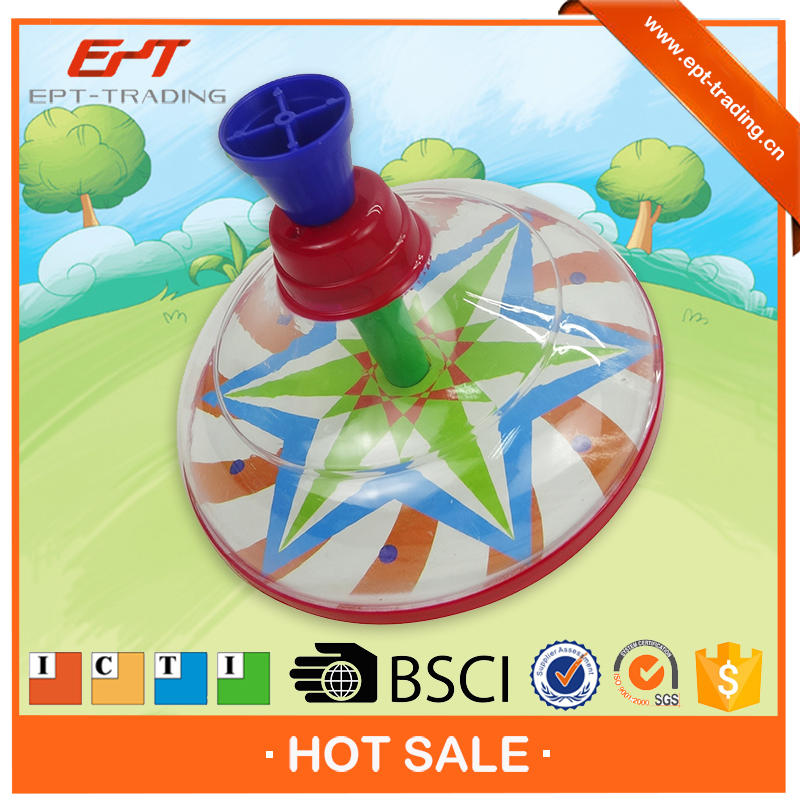 Super laser spinning top peg-top toys for kids