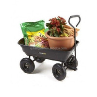 Flower pot trolley wagon cart
