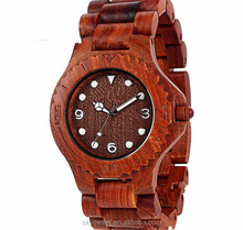 Natural red sanders wooden man watches,watches manufacture in china (SWTPR1037)