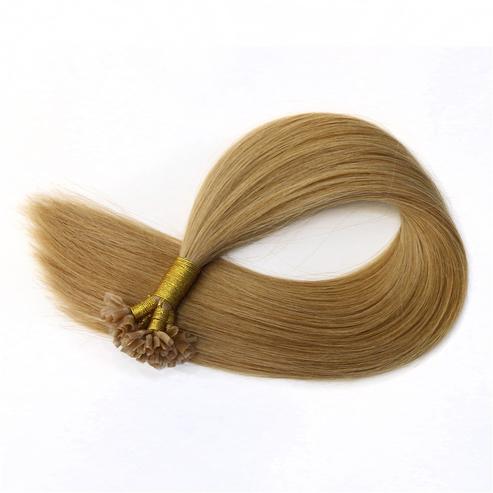 China wholesale 100% Human Hair Pre Bonded I/U/V/Flat Tip Hair Extensions
