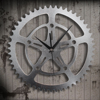 Antique Wall Clock Large Metal Wheel Gear Clock Digital Wall Clock