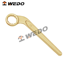 Professional OEM manufacturer ATEX UKAS GS FM ISO9001 Certificate die-forged Anti-spark hand tools single bent box wrench