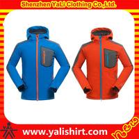 Custom fashion comfort snowboard jacket mens zipper windproof warm ski jacket with hoodie