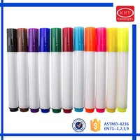 Permanent 12 Pack Premium Quality Assorted Bright Fine Writers Art Fabric Pens Child Safe Non Toxic design Your Own T-shirts,bag