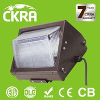 Led outdoor light IP65 module wall pack light DLC and ETL listed 5 years warranty