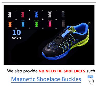 Promotional Curly Round No Need Tie Elastic Shoelaces With Excellent Quality~Top Selling Gift For Lovers~Ebay/Amazon Supplier