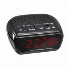 Desktop alarm clock time display BT speaker sem fio portátil speaker pequeno