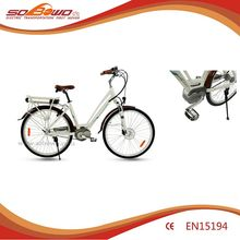 White frame stylish shape European electric bicycle vendor