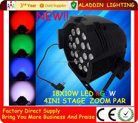 Aladdin China 18x10 LED DMX Par 4 in 1 quad-color led par can led par 64 dmx