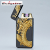 Three dimensional relief dragon Eagle pattern usb flameless arc lighter for cigarette