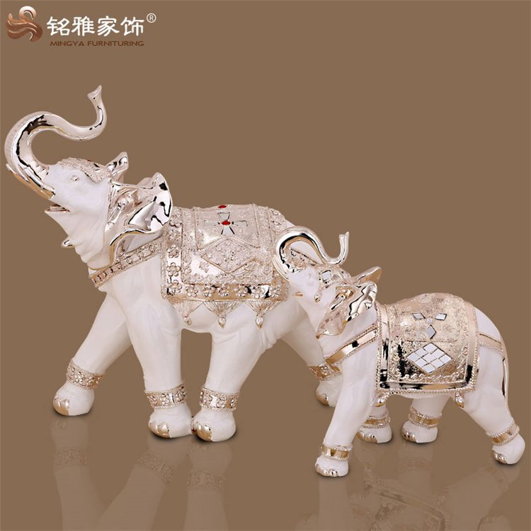 2016 guangzhou wholesale resin craft home decoration thailand elephant statue
