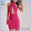 2016 fashion Clothes Women Sexy Backless Pink Party Dresses Casual Elegant Pencil Women Sexy Club Cocktail Party Bodycon dress