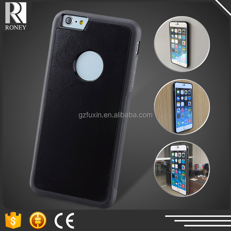 Self sticker nanometer materials mobile phone cover for iphone 6 case black cover leather