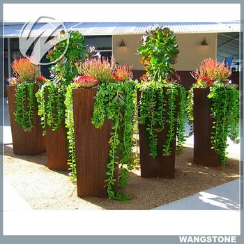 Modern Design Garden Decor Metal Garden Flower Pots Wholesale Buy Flower Pots Wholesale Flower