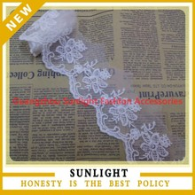 Wedding embroidery lace fabric lace trim for dress