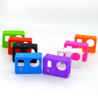 Silicone Case for the Camera Mainbody of GoPro Hero3+/3, Cover the one without LCD. Color: Black, Blue, Green, White, Rose GP165