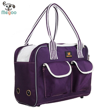 Elegant Purple Dog Carrier Bag Waterproof Pet Cat Handbags With Breathable Hole