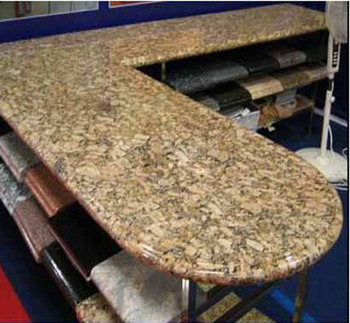 yellow granite top dining table