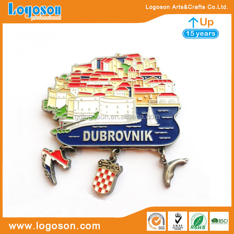 High Quality Custom Souvenir Foil Magnets Handmade Crafts Dubrovnik/Vodice/Makarska/Rovinj Croatia Beach Fridge Magnet Board