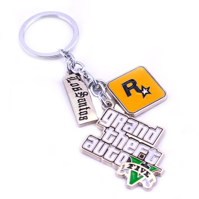 8AV GRANDTHEFT AUTO 5 keychain logo metal key chain Keyring chain