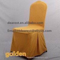 gold elegant spandex chair cover/ wedding chair covers