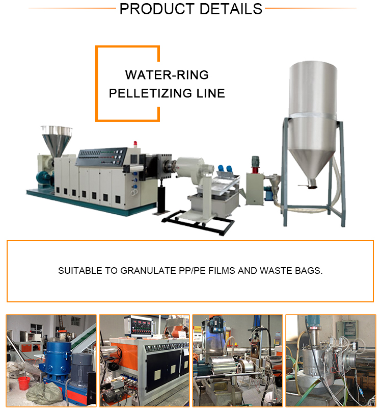 Plastic granulator pelletizing granules making machine