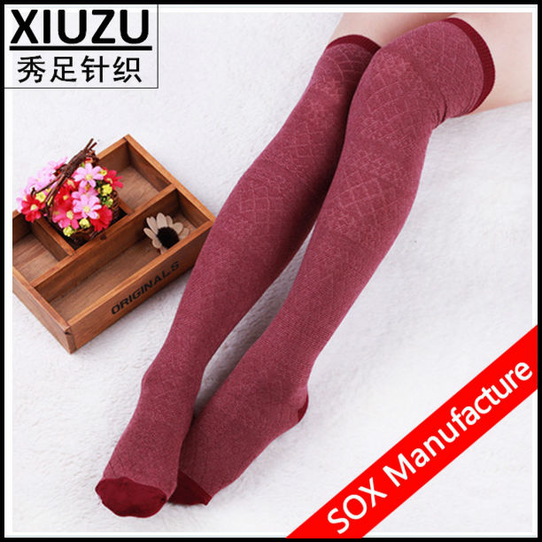 Good quality knee high custom lady stocking manufacturer