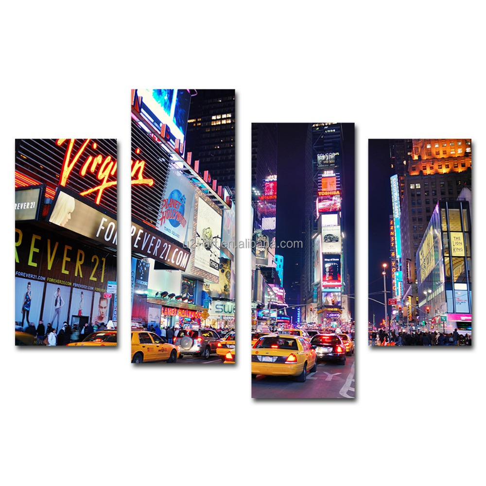 New York Times Square night canvas prints