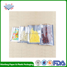 front clear window aluminum foil food bag
