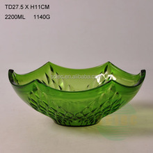 Hot sale colour dessert glass bowl with free samples in bulk