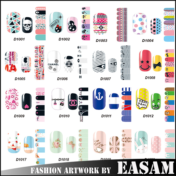 MH D series nail polish sticker,Free sample ship nail sticker