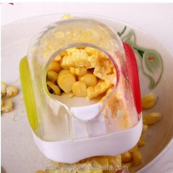 M407 wholesale high quality kitchen device by hand stripping corn Stripping round corn cutter with blade