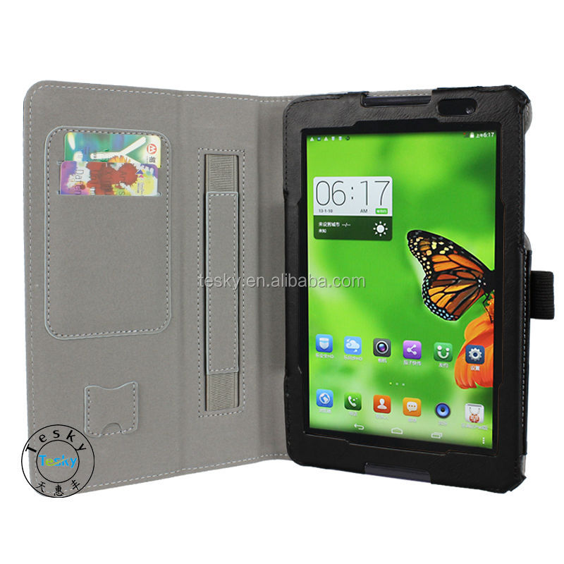 Wholesale PU Leather Tablet PC Case Cover For Lenovo A8-50 A5500 8 Inch Tablet With Card Slots, Hand Strap